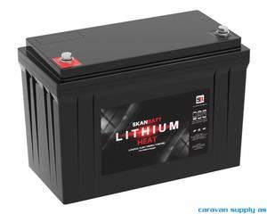 Bilde av Litiumbatteri SkanBatt 12V 100AH BMS BT Heat